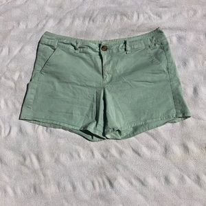 AE Light Mint Green Twill Midi Shorts size 10